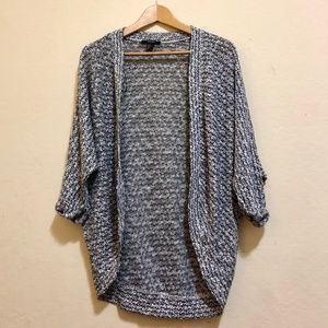 Grey speckled knit cardigan